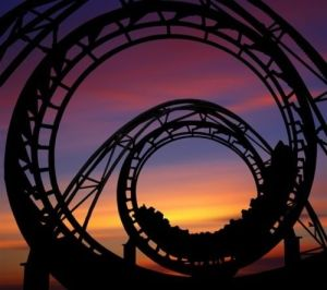 sunset rollercoaster